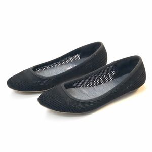 Dr Scholl's Black Fenestrated Flats Almond Toe